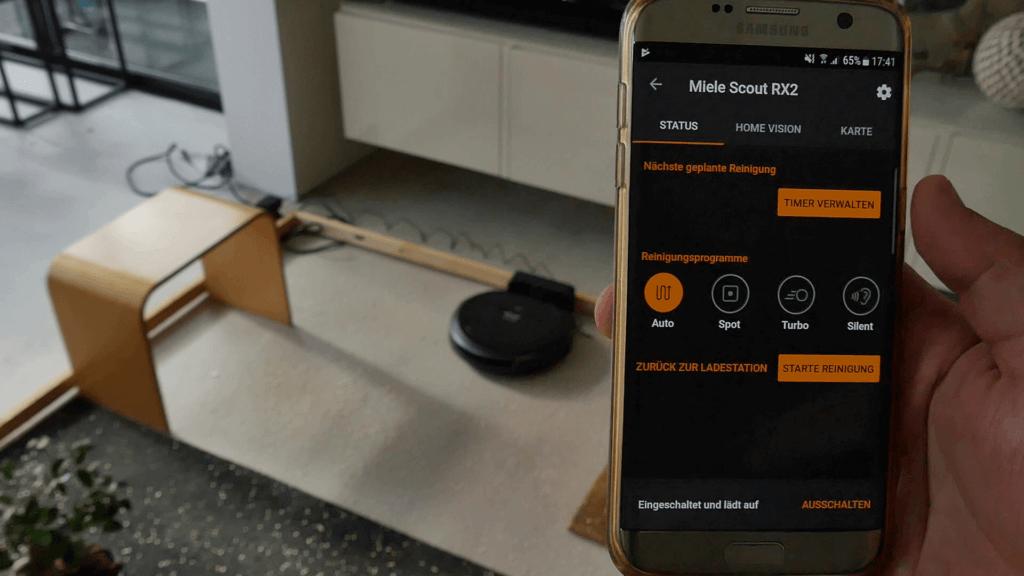 Die Miele Scout RX2 App ermöglicht eine umfassende Bedienung.