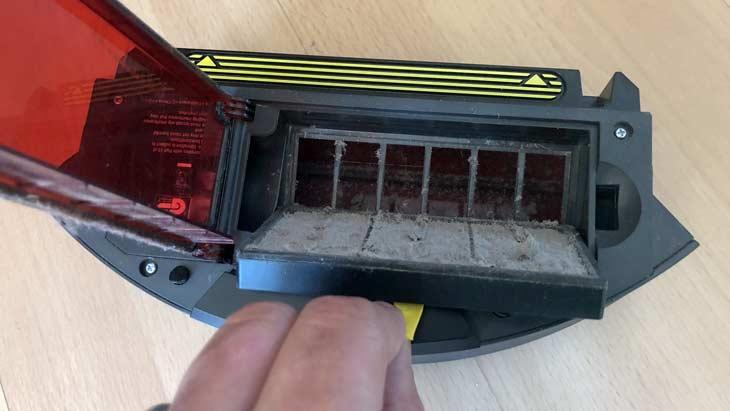 saugroboter filter wechsel