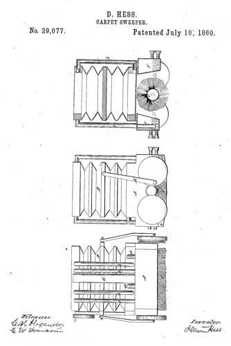 Patent für den Carpet Sweeper
