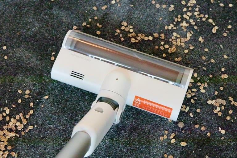 saugleistung teppich flach