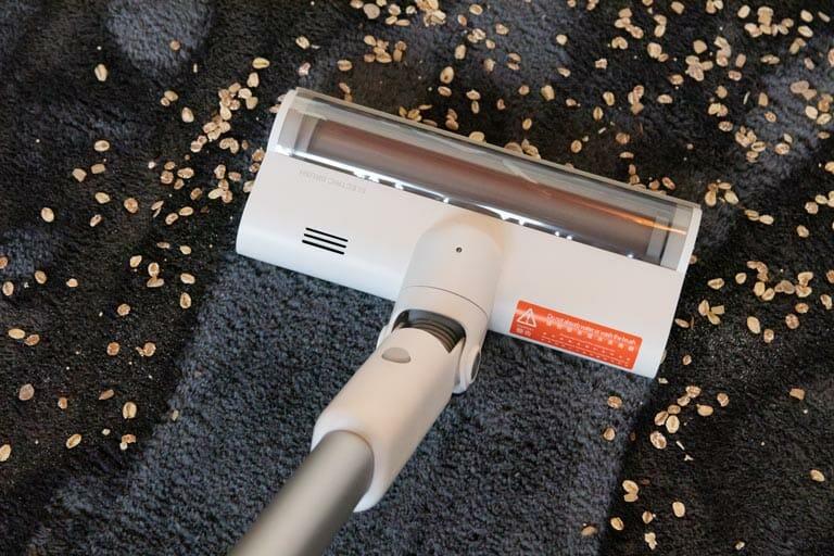 saugleistung teppich hoch