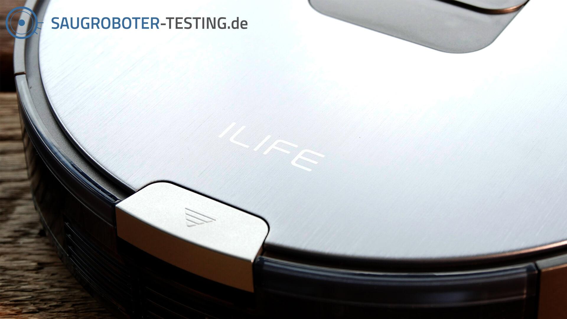 ILIFE V80 Staubbehälter und Logo